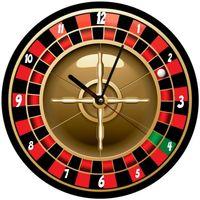 Maison & Déco Horloges Gadget Et Bazar Pendule ronde Roulette Cbkreation Rouge