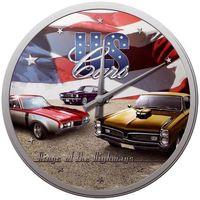 Maison & Déco Horloges New York Usa Pendule ronde US Cars Multicolore