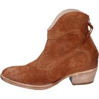 Chaussures Femme Bottines Moma BH809 Marron