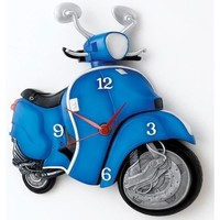 Maison & Déco Horloges Vespa Pendule Scooter Bleu