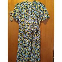 Vêtements Femme Robes courtes Sans marque Robe  à fleurs  T38 Multicolore