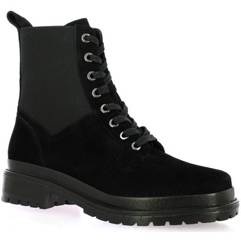 Chaussures Femme Boots Vidi Studio Boots cuir velours Noir
