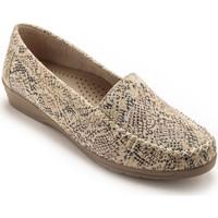 Chaussures Femme Mocassins Pediconfort Mocassins largeur confort beige