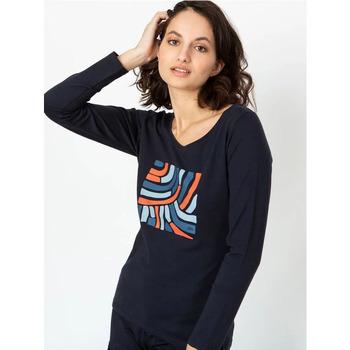 Vêtements Femme T-shirts manches longues TBS COLETTEE Bleu marine