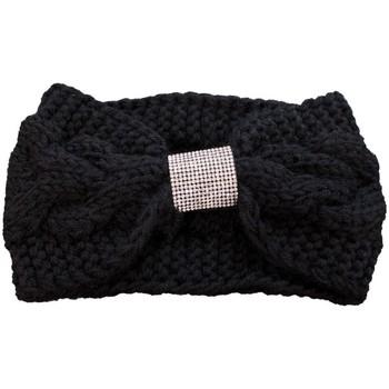 Beauté Femme Accessoires cheveux Primtex Bandeau laine  cheveux noir à strass en grosse maille Noir