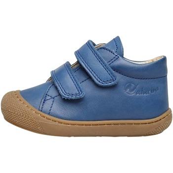 Chaussures Enfant Chaussons bébés Naturino COCOON VL-petites chaussures premiers pas en cuir nappa bleu