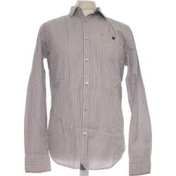 Vêtements Homme Chemises manches longues Carnet De Vol Chemise Manches Longues  38 - T2 - M Marron