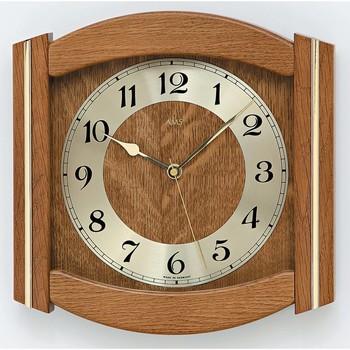 Maison & Déco Horloges Ams 5822/4, Pendule Murale En Verre, Classic Doré