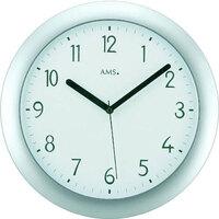 Vêtements de nuit Horloges Ams 5843, Quartz, Silver, Analogue, Modern Argenté