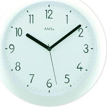 Maison & Déco Horloges Ams 5844, Quartz, White, Analogue, Modern Blanc