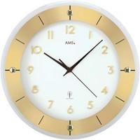 Vêtements de nuit Horloges Ams 5850, Quartz, White, Analogue, Modern Blanc