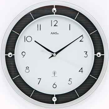 Vêtements de nuit Horloges Ams 5854, Quartz, White, Analogue, Modern Blanc