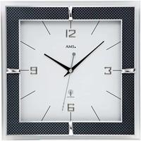 Vêtements de nuit Horloges Ams 5855, Quartz, White, Analogue, Modern Blanc