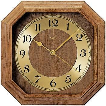 Vêtements de nuit Horloges Ams 5864/4, Quartz, Gold, Analogue, Classic Doré