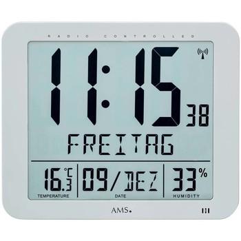 Vêtements de nuit Horloges Ams 5884, Quartz, Grey, Analogue, Modern Gris