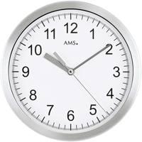 Maison & Déco Horloges Ams 5910, Quartz, White, Analogue, Modern Blanc