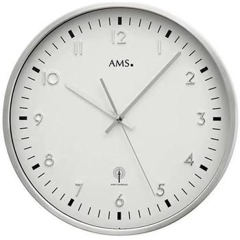 Vêtements de nuit Horloges Ams 5914, Quartz, White, Analogue, Modern Blanc