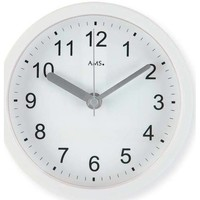 Vêtements de nuit Horloges Ams 5927, Quartz, White, Analogue, Modern Blanc