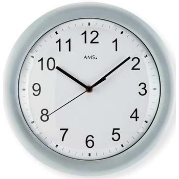 Vêtements de nuit Horloges Ams 5933, Quartz, White, Analogue, Classic Blanc