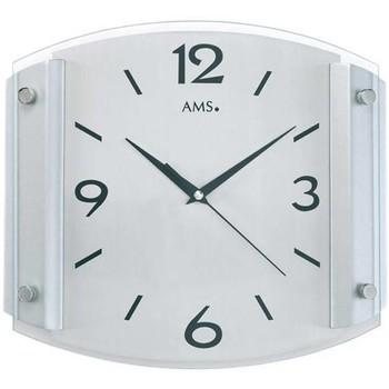 Maison & Déco Horloges Ams 5938, Quartz, Silver, Analogue, Modern Argenté