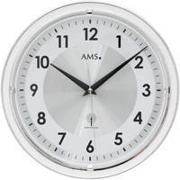 Vêtements de nuit Horloges Ams 5945, Quartz, Silver, Analogue, Modern Argenté