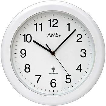 Vêtements de nuit Horloges Ams 5957, Quartz, White, Analogue, Modern Blanc