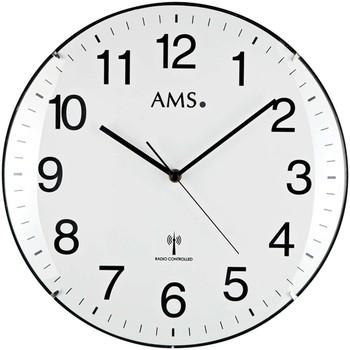 Maison & Déco Horloges Ams 5960, Quartz, White, Analogue, Modern Blanc