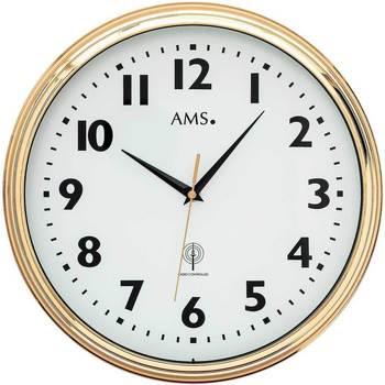 Maison & Déco Horloges Ams 5963, Quartz, White, Analogue, Modern Blanc