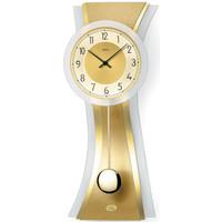 Maison & Déco Horloges Ams 7267, Pendule Murale En Verre, Modern Doré
