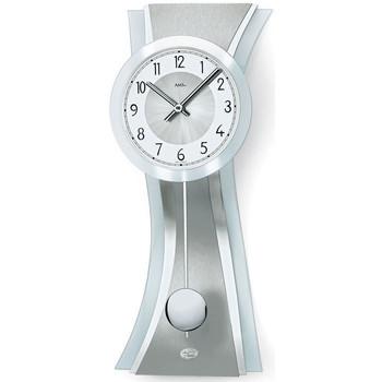 Vêtements de nuit Horloges Ams 7268, Quartz, Silver, Analogue, Modern Argenté