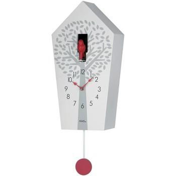 Maison & Déco Horloges Ams 7286, Quartz, White, Analogue, Modern Blanc