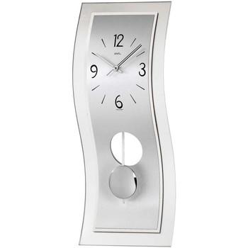 Vêtements de nuit Horloges Ams 7300, Quartz, Silver, Analogue, Modern Argenté