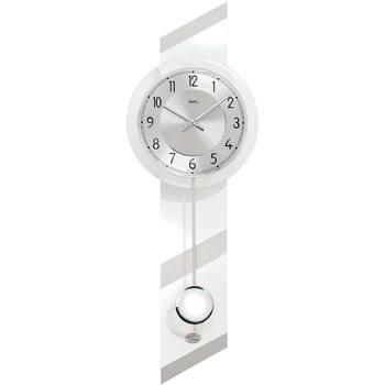 Maison & Déco Horloges Ams 7414, Quartz, Silver, Analogue, Modern Argenté