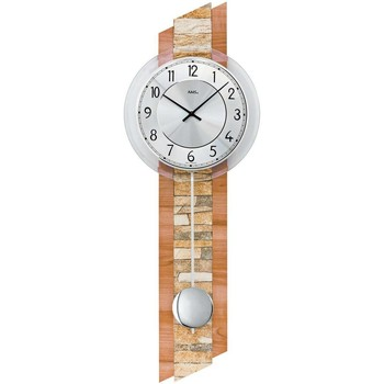 Maison & Déco Horloges Ams 7424, Quartz, Silver, Analogue, Modern Argenté