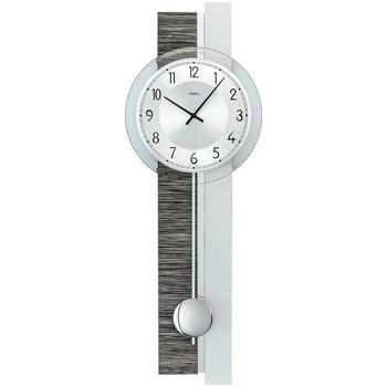 Vêtements de nuit Horloges Ams 7439, Quartz, Silver, Analogue, Modern Argenté