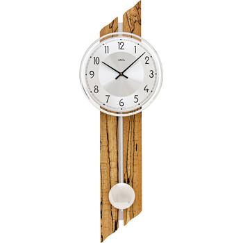 Maison & Déco Horloges Ams 7468, Quartz, Silver, Analogue, Modern Argenté