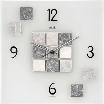 Maison & Déco Horloges Ams 9276, Quartz, Transparent, Analogue, Modern Autres