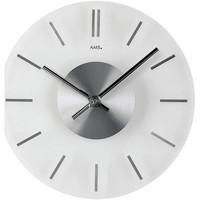 Vêtements de nuit Horloges Ams 9318, Quartz, White, Analogue, Classic Blanc