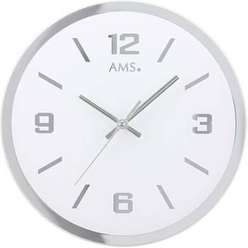 Maison & Déco Horloges Ams 9322, Quartz, White, Analogue, Modern Blanc