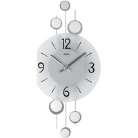 Maison & Déco Horloges Ams 9388, Quartz, Silver, Analogue, Modern Argenté