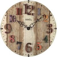 Vêtements de nuit Horloges Ams 9423, Quartz, Brown, Analogue, Modern Marron