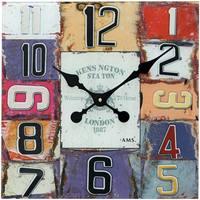 Maison & Déco Horloges Ams 9425, Quartz, Multicolour, Analogue, Modern Autres