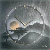 Maison & Déco Horloges Ams 9514, Quartz, Grey, Analogue, Modern Gris