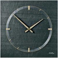 Maison & Déco Horloges Ams 9516, Quartz, Black, Analogue, Modern Noir