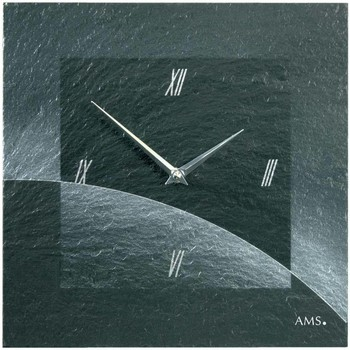Vêtements de nuit Horloges Ams 9518, Quartz, Black, Analogue, Modern Noir