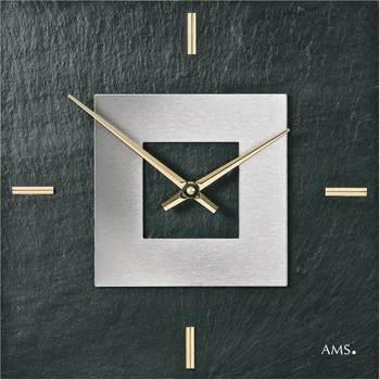 Vêtements de nuit Horloges Ams 9525, Quartz, Black, Analogue, Modern Noir