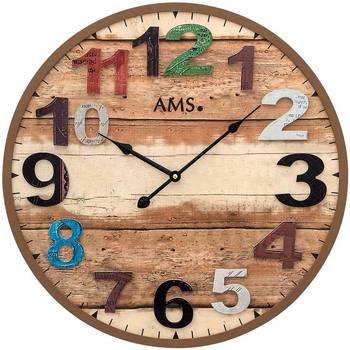 Vêtements de nuit Horloges Ams 9539, Quartz, Brown, Analogue, Modern Marron