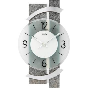 Maison & Déco Horloges Ams 9548, Quartz, Transparent, Analogue, Modern Autres