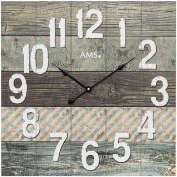Maison & Déco Horloges Ams 9570, Quartz, Brown, Analogue, Modern Marron