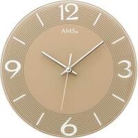 Vêtements de nuit Horloges Ams 9572, Quartz, Gold, Analogue, Modern Doré